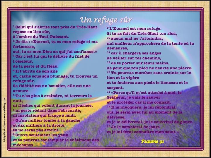 Un refuge sûr - Psaume 91 - Ecrin2moncoeur
