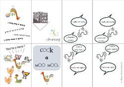 """Mini book """"Cook a moo moo"""""""