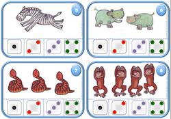Les cartes à compter 3 et 4