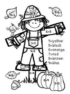 FREEBIE!!!  Fall Addition Color By Number-change this to single digits for preschool number recognition.: