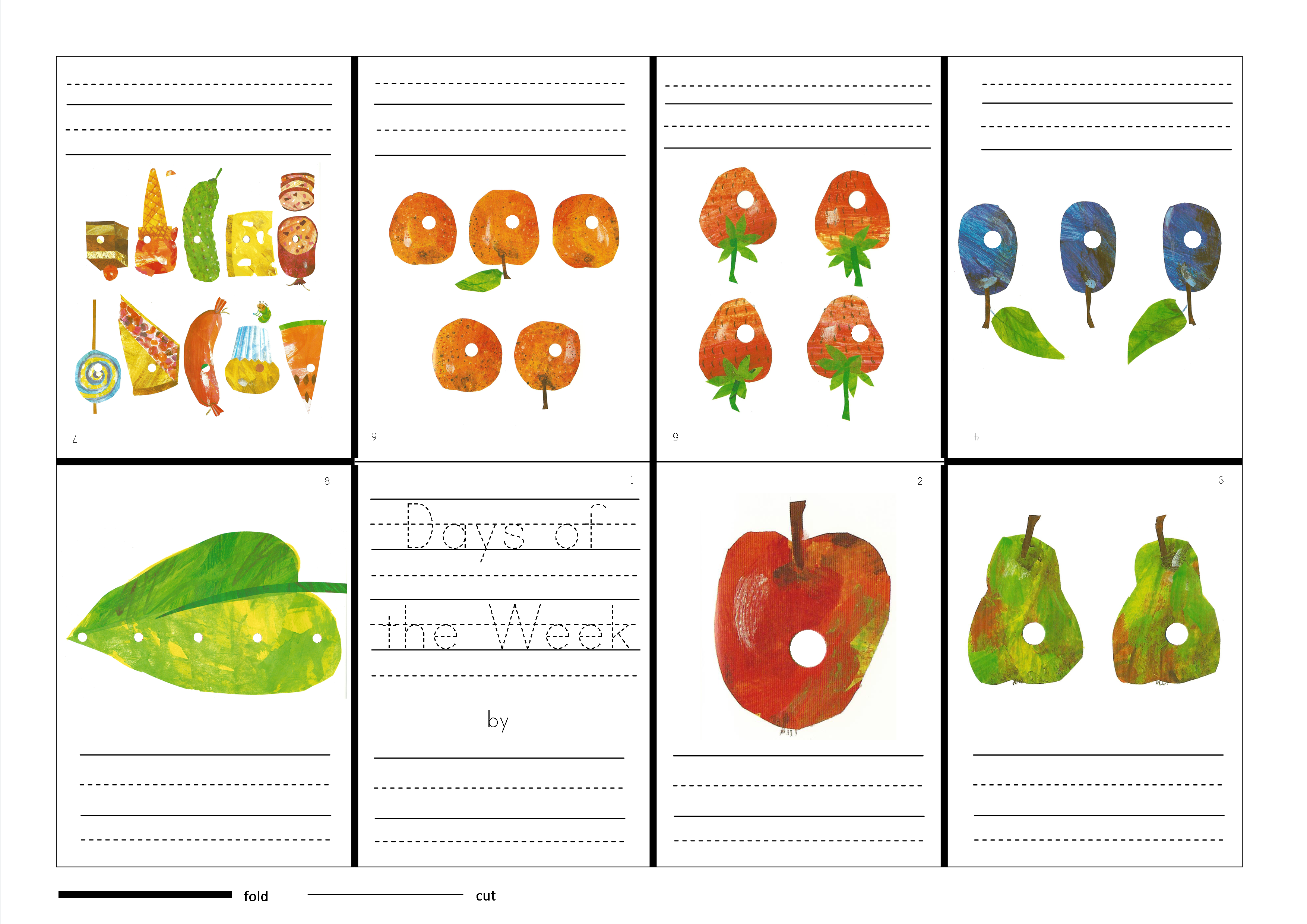 The Very Hungry Caterpillar Days Of The Week