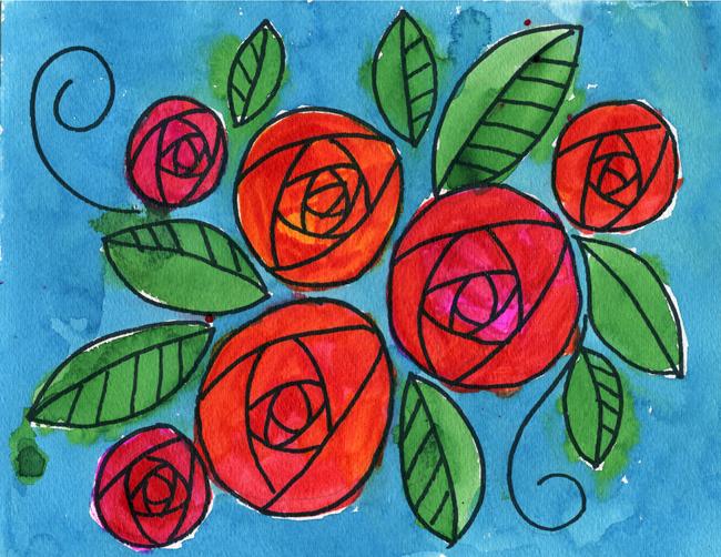Dessiner des roses