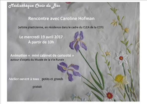 atelier avec Caroline Hofman...