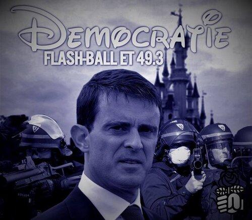 El Khomri – Valls – 49-3 / La Mascarade « démocratique » est finie !!