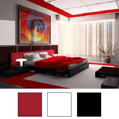Deco Chambre Rouge Et Noir Chambre Rouge Noir Argent Deco
