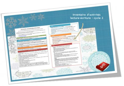 Inventaire d'activités pour lire et écrire au cycle 2