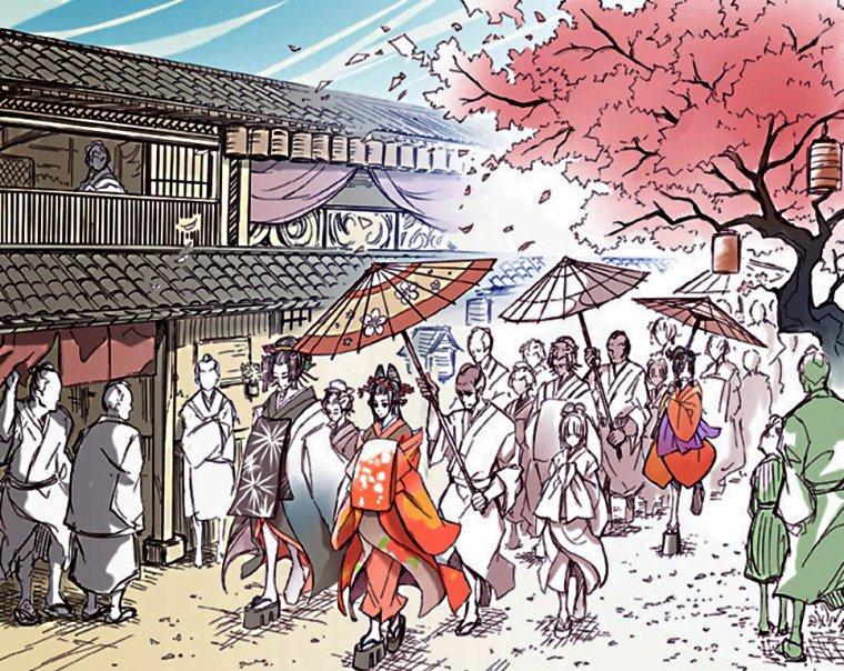 Nouvelle version l''histoire sur les geisha - Femmes artistes, Oiran, Meiko, Kamuro avec quelque imageboard/manga