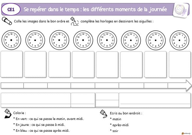 Temps Le Petit Cartable De Sanleane