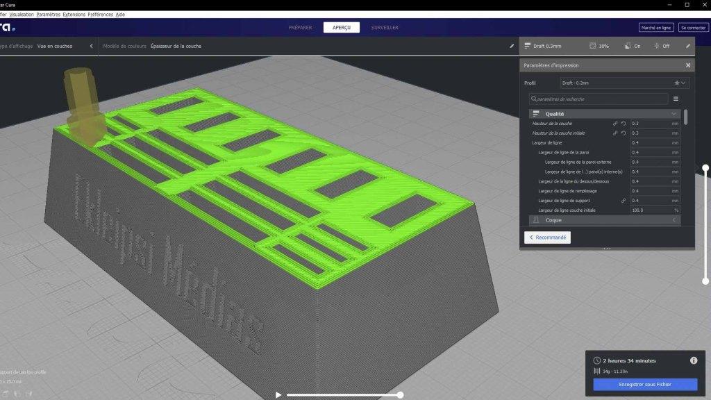 modele 3D de support pour clés USB