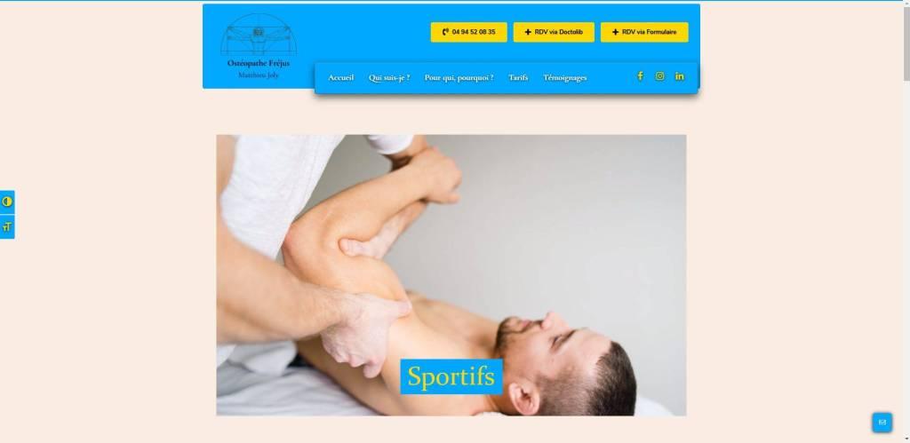 capture d'écran du site de Matthieu joly