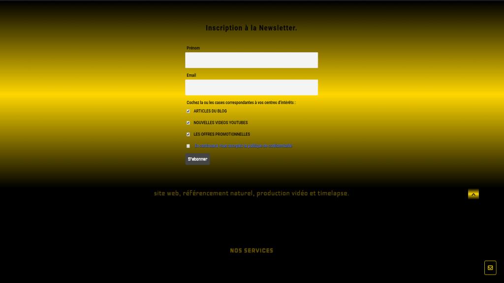 formulaire de souscription à la newsletter