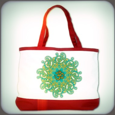 yoga_om_damask_swirl_shoulder_bag_redwhite