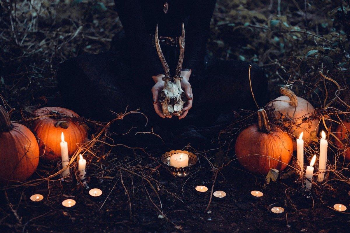 할로윈 촛불