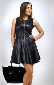 Sukienka ze skóry ekologicznej