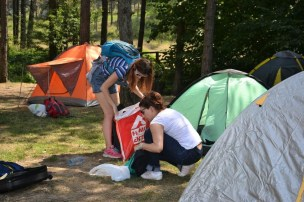 Подизање шатора