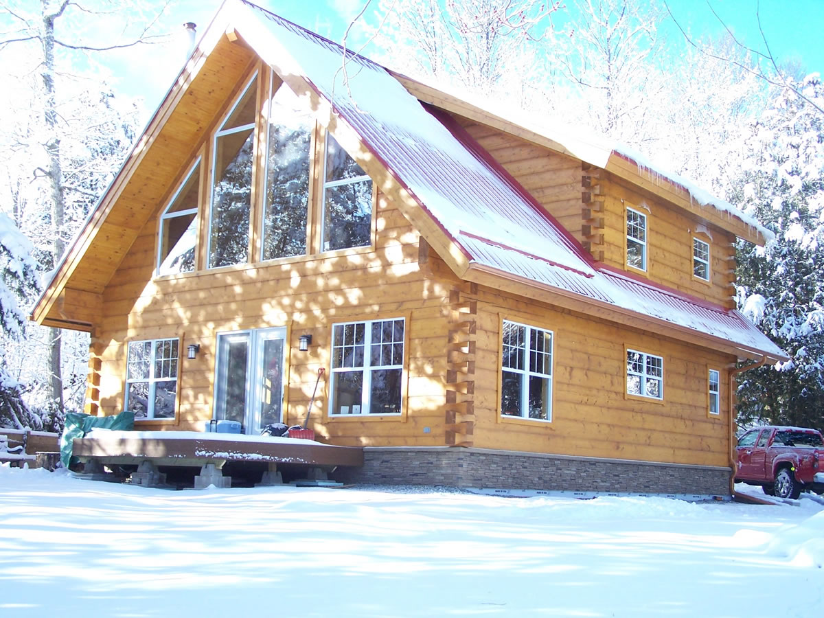 Timber frame in Lanark County
