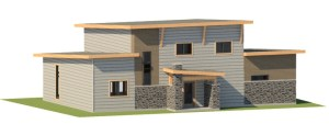 northern elevation of the ottawa passive house