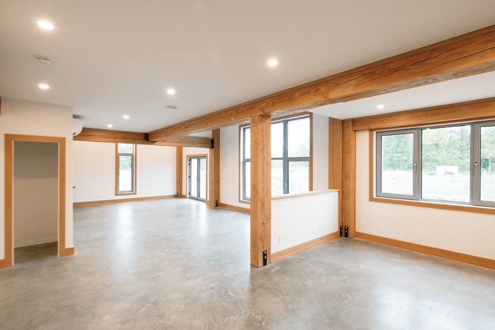House with recessed LED lighting