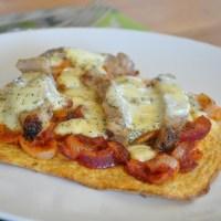 LCHF-pizza utan galet mycket ost