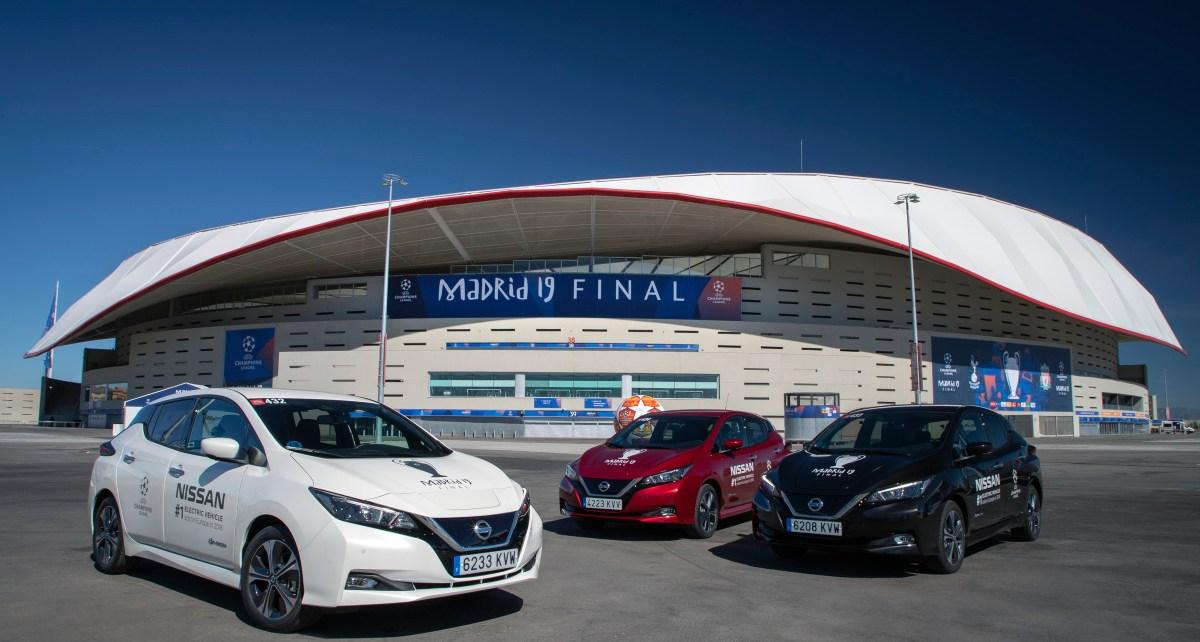 Elektryczna flota Nissana na fina rozgrywek UEFA Champions League 2019 6-source
