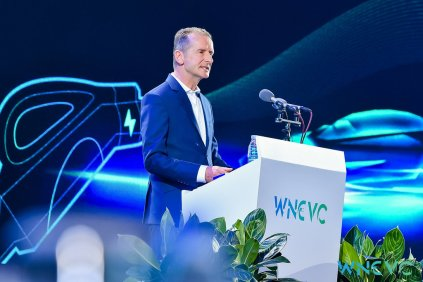 Dr. Herbert Diess at the first World New Energy Vehicle Congress (WNEVC) in the southern Chinese city of Boao.