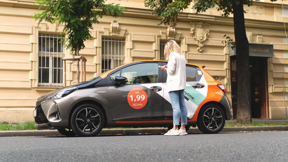 Anytime carsharing nové barvy