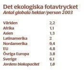 Ekologiska fotavtrycket 2003