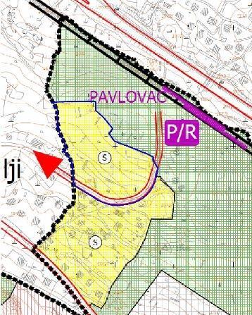 Područje obuhvata UPU dijela stamenog područja Pavlovac u GUP