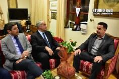 Επίσκεψη Αυγενάκη – Βορίδη στον Δήμαρχο Ναυπλιέων Δημήτρη Κωστούρο