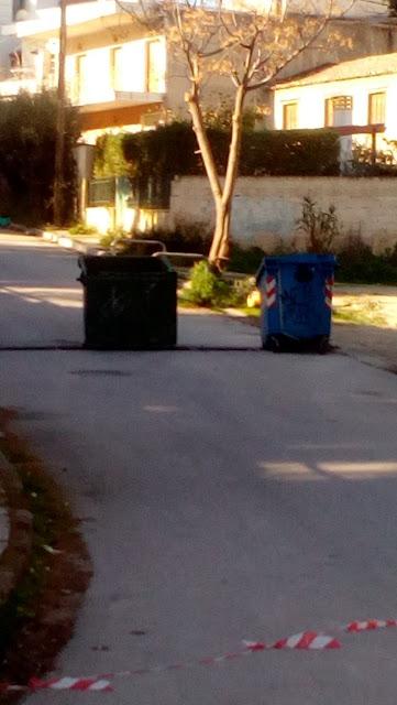 Κόρινθος: Έκλεισε ολόκληρος δρόμος λόγω… κλοπής (εικόνες)