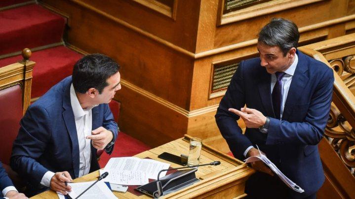 Προεκλογική αρένα η Βουλή με βαριές κουβέντες Τσίπρα-Μητσοτάκη