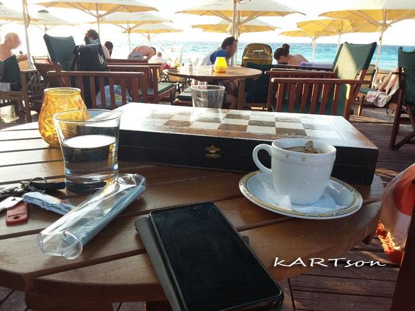 Καφές ελληνικός, τάβλι, μπανάκι…αλλά ο καιρός είχε διαφορετική γνώμη.