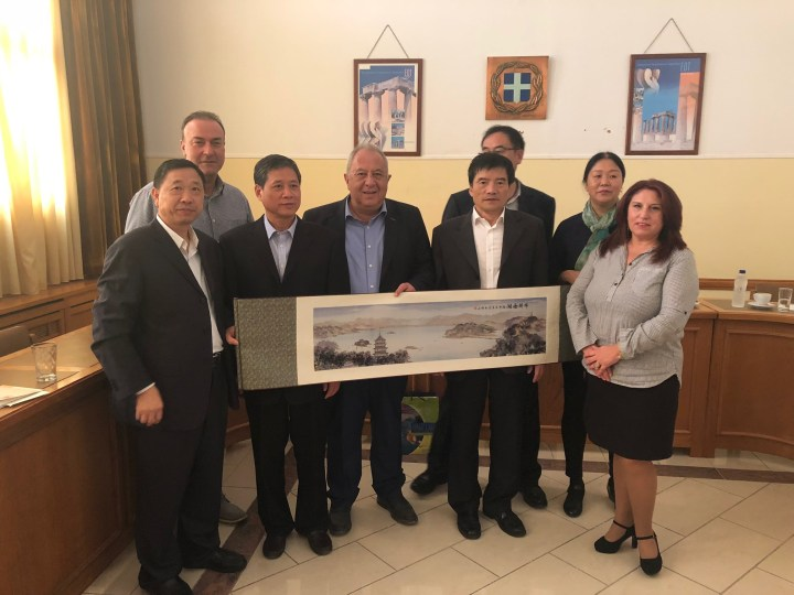 Επίσκεψη Κινέζου αντιπεριφερειάρχη στην Π.Ε Κορινθιας