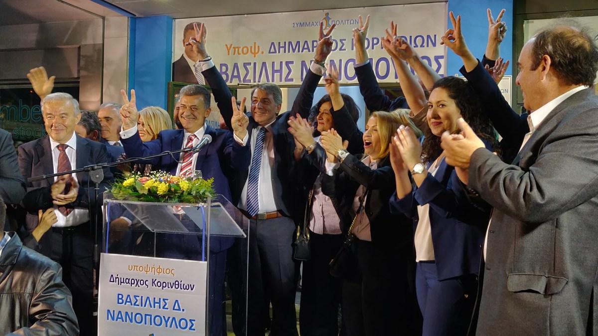 Ο Βασίλης Νανόπουλος εγκαινίασε το εκλογικό κέντρο της Συμμαχίας Πολιτων