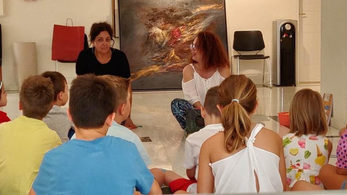 Τα παιδιά σε επαφή με την πινακοθήκη Κορινθου