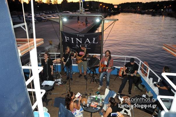 Νυχτερινός μουσικός διάπλους της διώρυγας της Κορίνθου με τους THE FINAL ACT (Φωτορεπορτάζ)