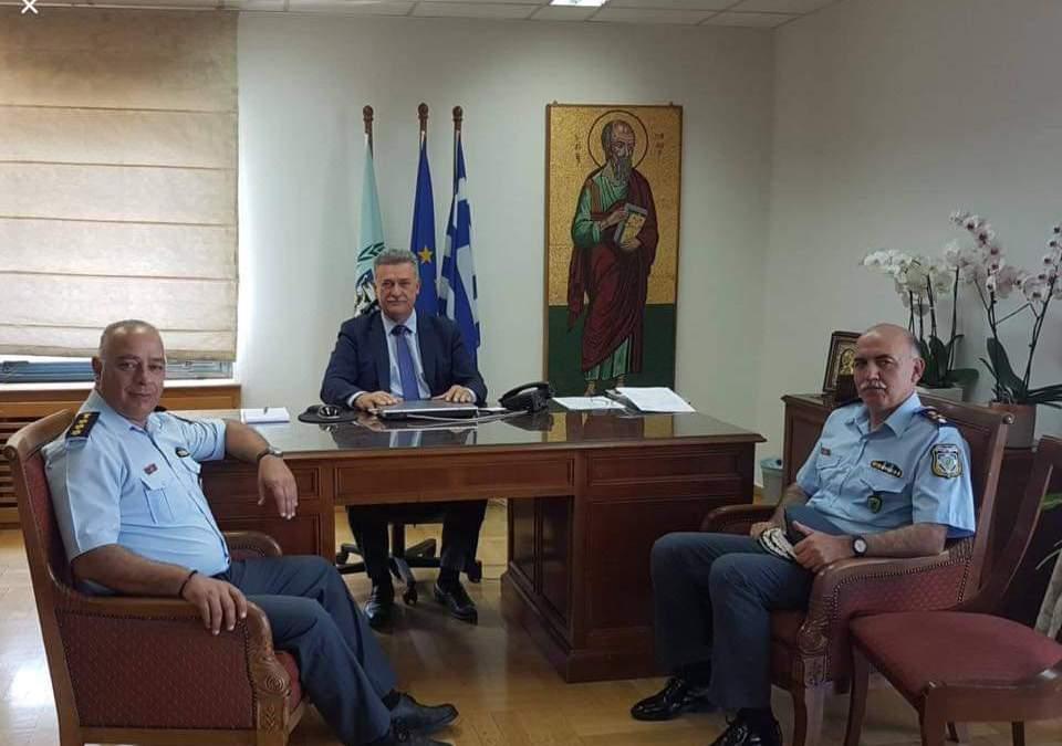 Επίσκεψη του Περιφερειακού διευθυντή της ΕΛΛΑΣ στο δήμαρχο Κορινθιων
