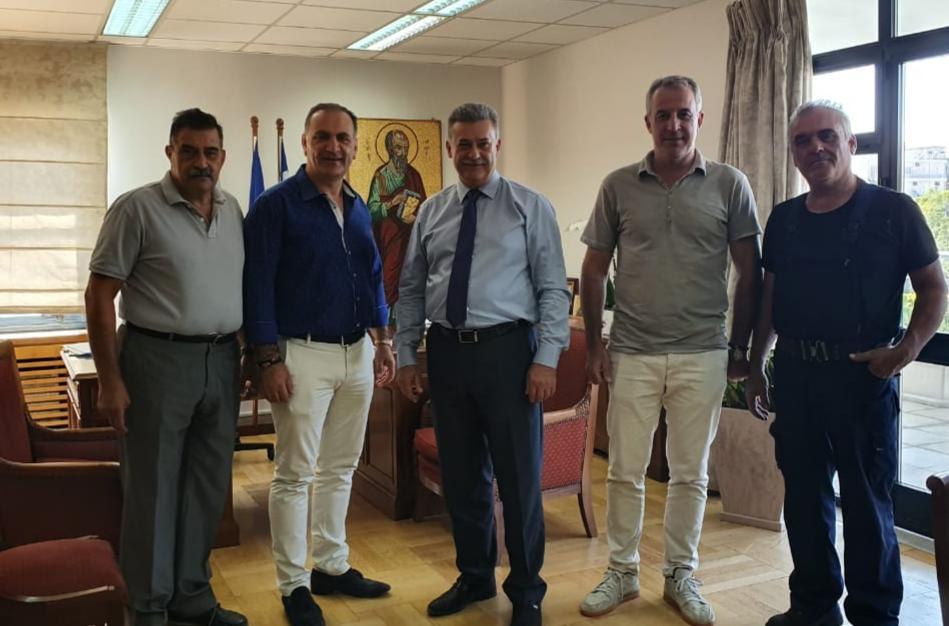 Το νέο Δήμαρχο Κορινθίων επισκέφτηκε ο Πρόεδρος του Επιμελητηρίου Κορινθίας