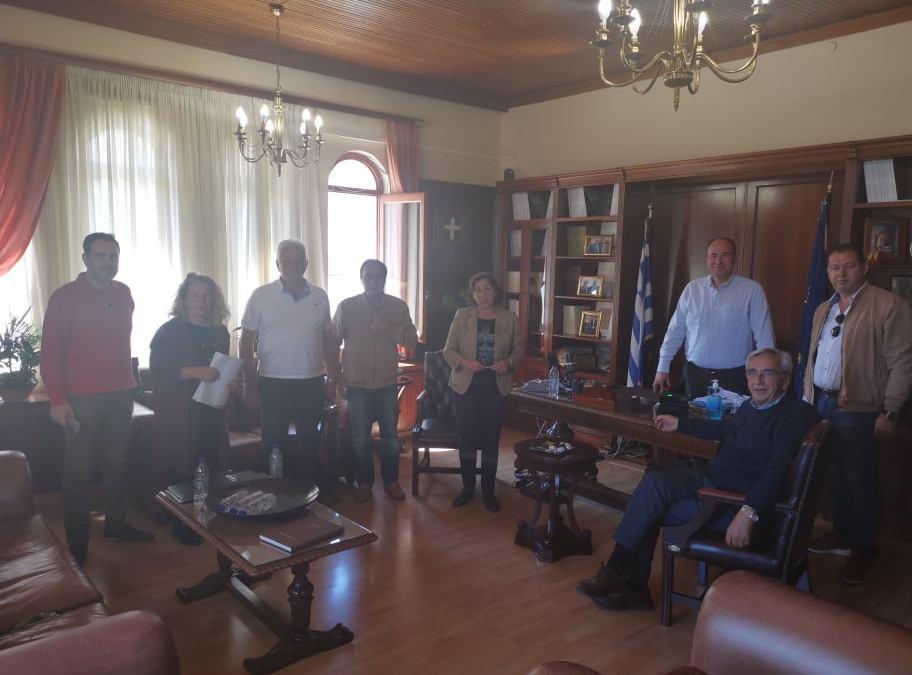 Συνάντηση για το νέο διοικητήριο της Π.Ε Κορινθιας