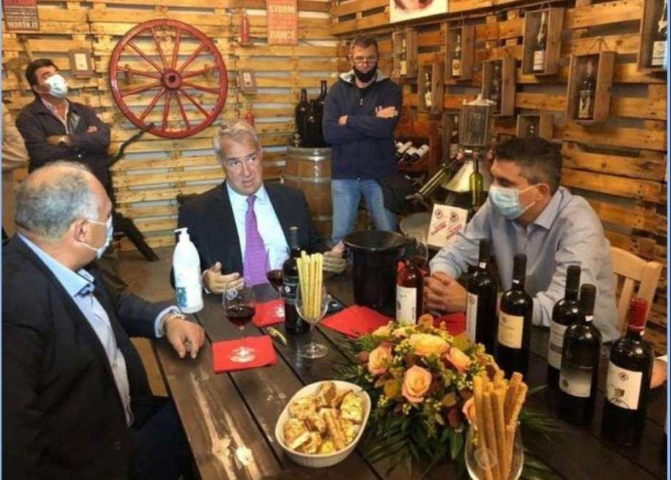 Επίσκεψη Υπουργού Αγροτικής Ανάπτυξης και Τροφίμων κου Βορίδη στον Αγροτικό Οινοποιητικό Συνεταιρισμό Νεμέας