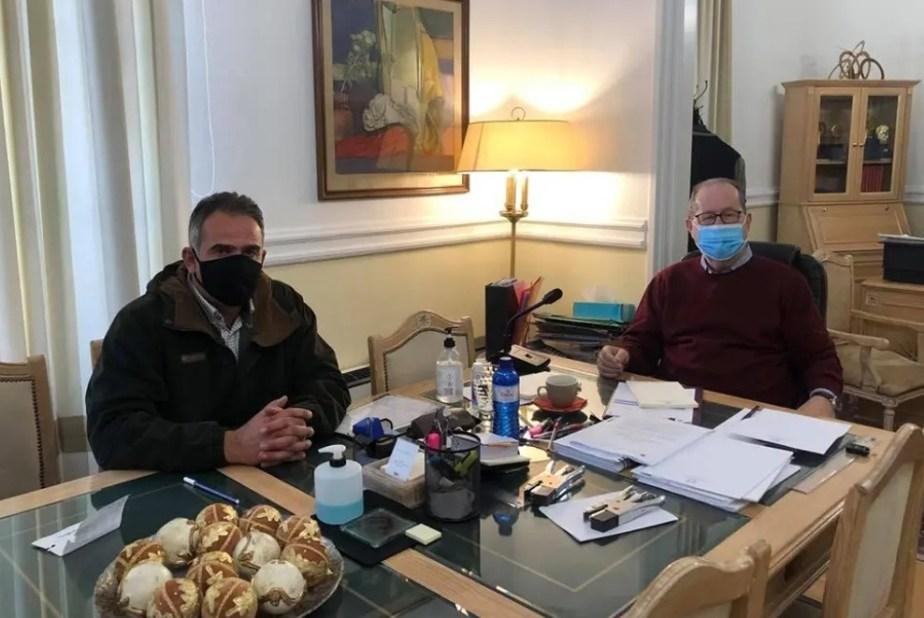 Θέματα των Επιμελητηρίων στη συνάντηση του περιφερειάρχη Π. Νίκα με τον πρόεδρο του Επιμελητηρίου Αρκαδίας