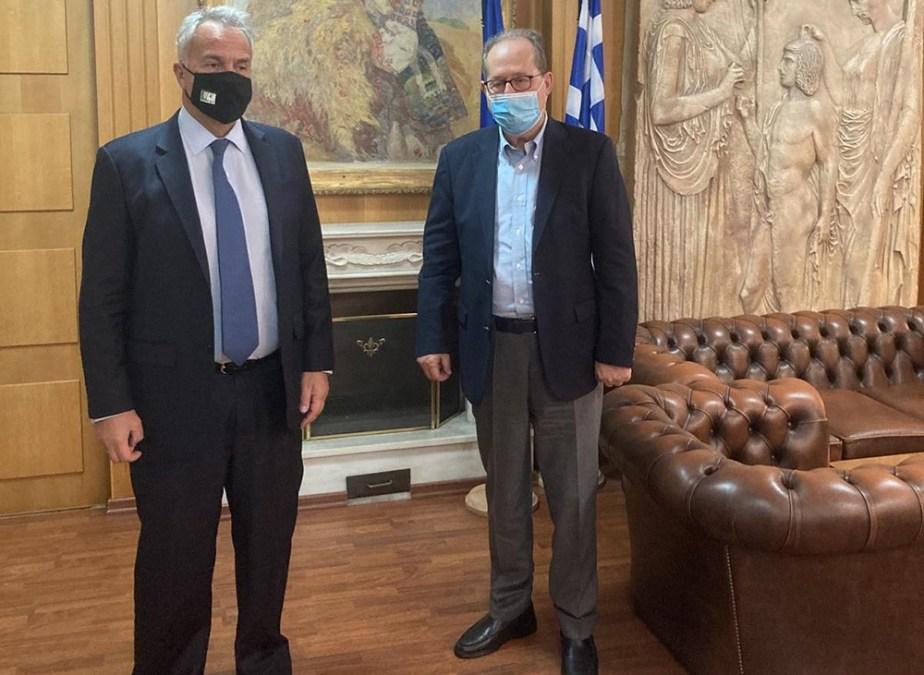 Σημαντικά ζητήματα στη συνάντηση του περιφερειάρχη Πελοποννήσου Π. Νίκα με τον υπουργό Αγροτικής Ανάπτυξης και Τροφίμων Μ. Βορίδη