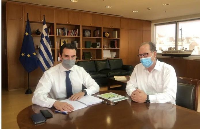 Συνάντηση του περιφερειάρχη Πελοποννήσου Π. Νίκα με τον υπουργό Περιβάλλοντος και Ενέργειας Κώστα Σκρέκα . Η Κόρινθος εκτός φυσικού αερίου;