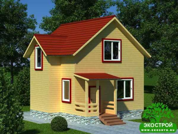 Проекты домов до 100 кв. м из бруса – одноэтажные, с ...