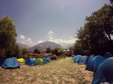 Hills and tents