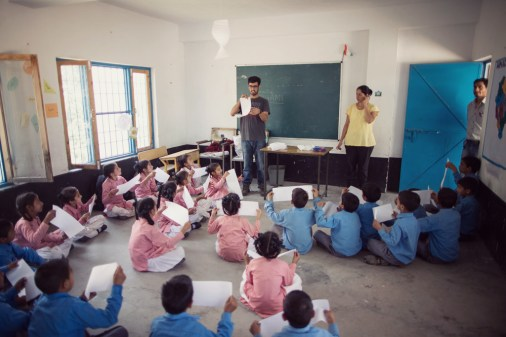 Hill Hacks: Origami Workshop Government Primary School, Naddi