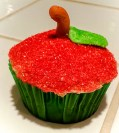 "I'm not sure that the saying, ""an apple a day keeps the doctor away"" applies to this apple. Cupcake By: Elizabeth Preston Photo By: Elizabeth Preston"