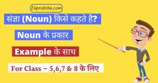 noun & its kinds in hindi