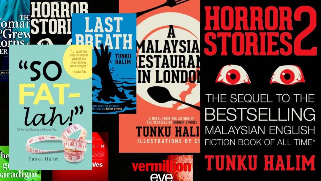 Books written by Tunku Halim. Image credit Tunku Halim.