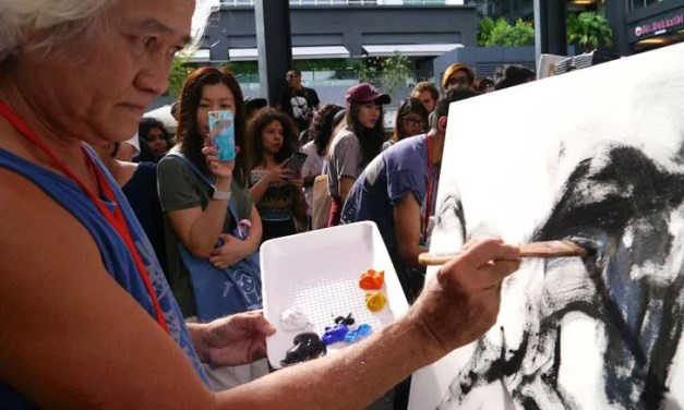 OPINION   Art Battle- Why it is good to splash it all out by Stan C.H. Lee